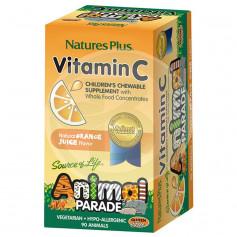 Animal Parade Vitamina C 90 Comprimidos Natures Plus