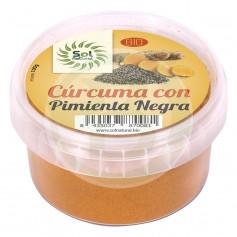 Cúrcuma con Pimienta Negra Bio 100Gr. Sol Natural