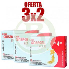 Pack 3x2 Ginsagel Gold 20 Perlas Il Hwa