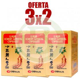 Pack 3x2 Ginseng Tarro 100 Cápsulas Il Hwa