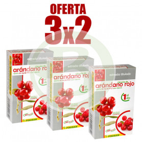 Pack 3x2 Extracto de Arándano Rojo 30 Cápsulas Pinisan