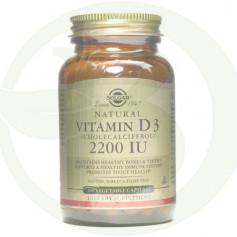 Vitamina D3 2200 IU 100 Cápsulas Solgar