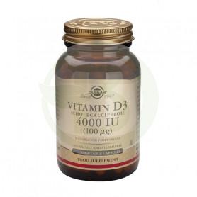 Vitamina D3 4000 UI 60 Cápsulas Solgar