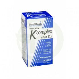Vitamina K Complex y D3 30 Comprimidos Health Aid