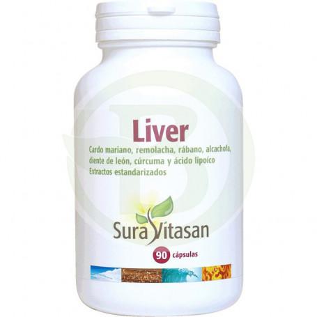 Liver 650Mg. 90 Cápsulas Sura Vitasan
